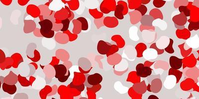 roter Hintergrund mit chaotischen Formen.