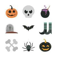 flache Ikone des Halloween-Festes