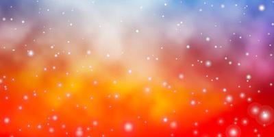 blå och röd mall med stjärnor. vektor