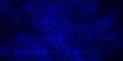 mörkblå bakgrund med linjer, trianglar. vektor
