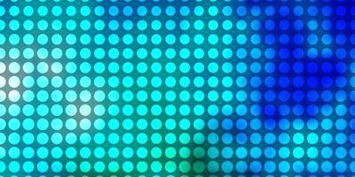 blått och grönt mönster med cirklar.