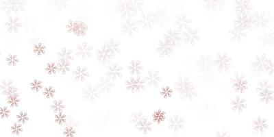 ljusröd abstrakt layout med blad.
