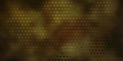 dunkelbraunes Vektorlayout mit Kreisen. vektor
