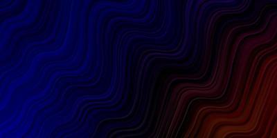 mörkblå och röd mall med kurvor.