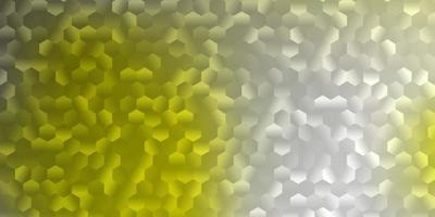 ljusgult mönster med hexagoner. vektor