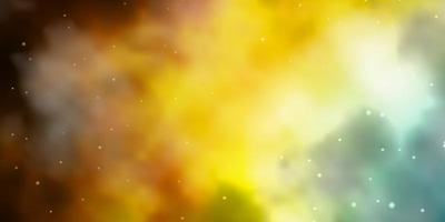 blauer und gelber Hintergrund mit Sternen.