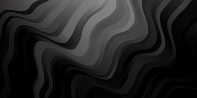 dunkelgrauer Hintergrund mit gebogenen Linien. bunte Illustration im kreisförmigen Stil mit Linien. Muster für Anzeigen, Werbung.
