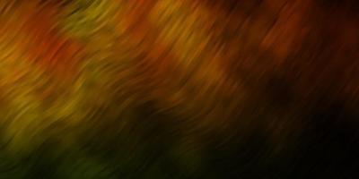 dunkelgrünes und gelbes Layout mit Kurven. vektor