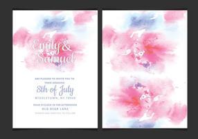 Vector Empfindliche Aquarell Einladung Wedding