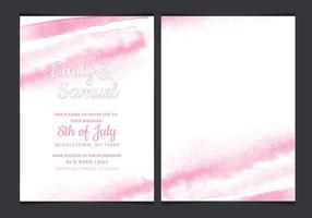 Vector Delikat Akvarell Wedding Invitation