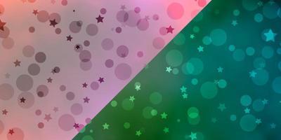 Textur mit Kreisen, Sternen.