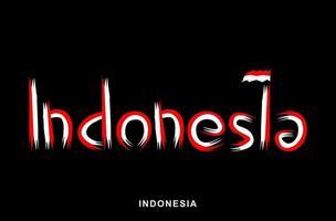 indonesischer rot-weiß lackierter Pinsel vektor