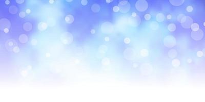 ljusblått och lila mönster med cirklar.