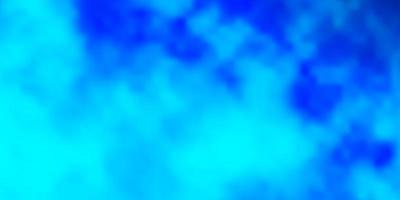 blå layout med molnlandskap.