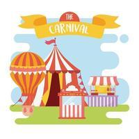Fun Fair, Karneval und Unterhaltung Erholung Komposition