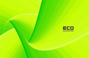 gröna miljövänliga bakgrunder med bladmönster vektor