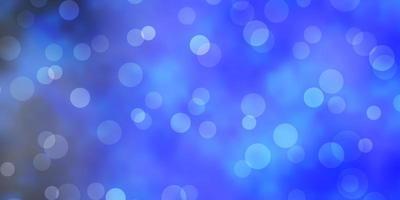 blå mall med cirklar.