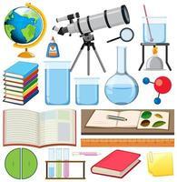 uppsättning skolobjekt