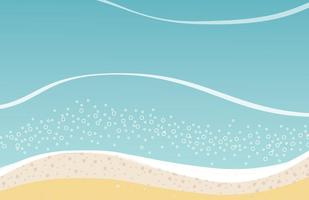 Sommer-Strand Playa Vektor Hintergrund
