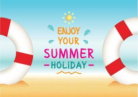 Njut av din sommarsemester Beach Vector