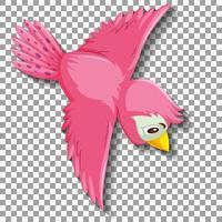 niedliche rosa Vogel-Zeichentrickfigur