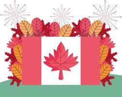 glad Kanada dag firande banner vektor