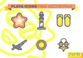 Playa ikoner Free Vector Pack
