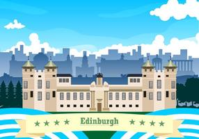 Landskapet i Edinburgh Free Vector