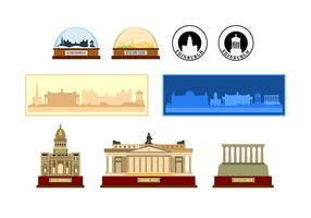 Edinburgh Souvenir Vektoren
