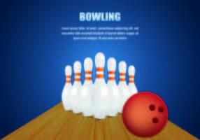 Bowling Hintergrund Vektor