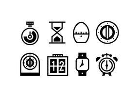 Timer Beschriebenen Vektor-Icons vektor