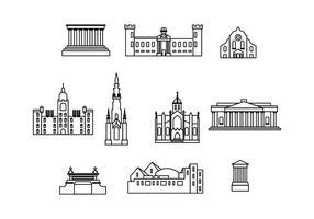 Edinburgh Gratis Zeichen Vector