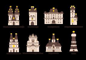 Prag ikoner Vector