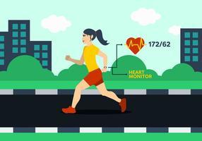 Laufende Frau Illustration vektor