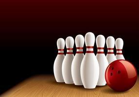 Bowling Lane Realistiska Vector