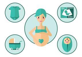 Schwangerschafts-Vektor-Icon vektor