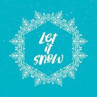 Lass es den Weihnachtshintergrund schneien