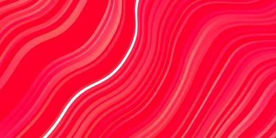 rote Schablone mit gekrümmten Linien. vektor