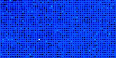 blått mönster med cirklar.