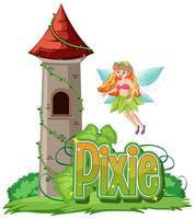 pixie-logotyp med älva
