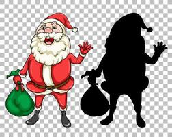 Santa hält Geschenktüte