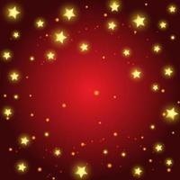 jul bakgrund med gyllene stjärnor design vektor