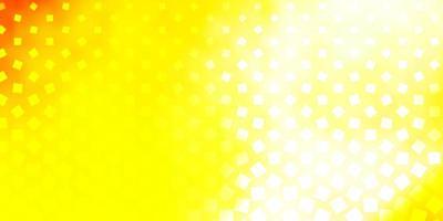 gelber Hintergrund mit Quadraten. vektor