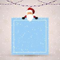 jul bakgrund med söt santa