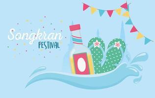 songkran festival firande vektor