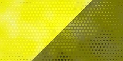 gult mönster med cirklar.