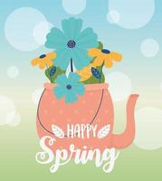 fröhliche Frühlingsfeier Banner