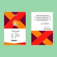 ID-Karte Design-Vorlage