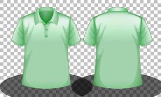grünes Poloshirt mit kurzen Ärmeln vektor