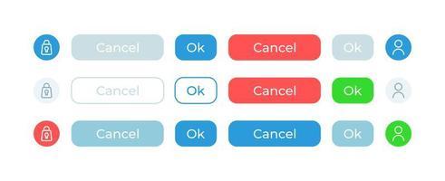 Optionen bestätigen, UI-Elemente-Kit